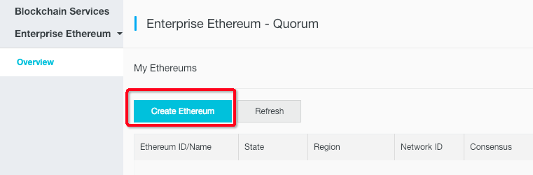 create ethereum