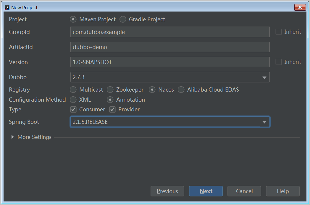 Apache Dubbo 工程基本参数