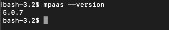 xcode mpaas 插件版本