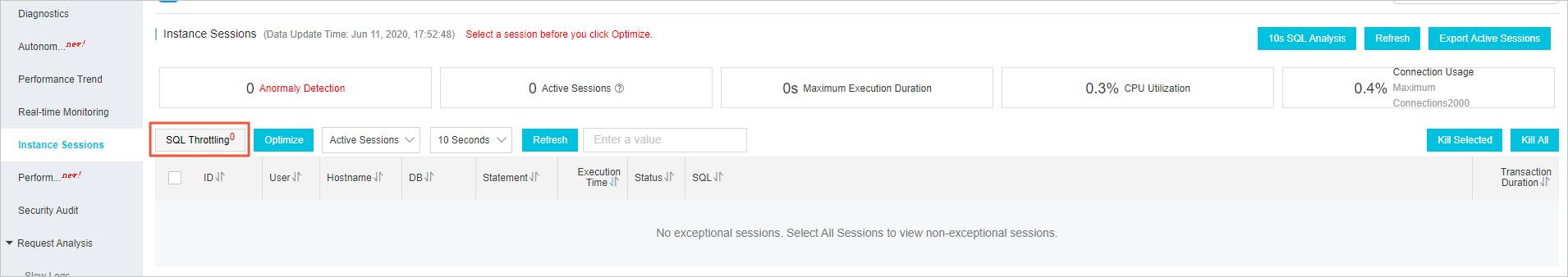 SQL Throttling1