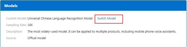 Select a model