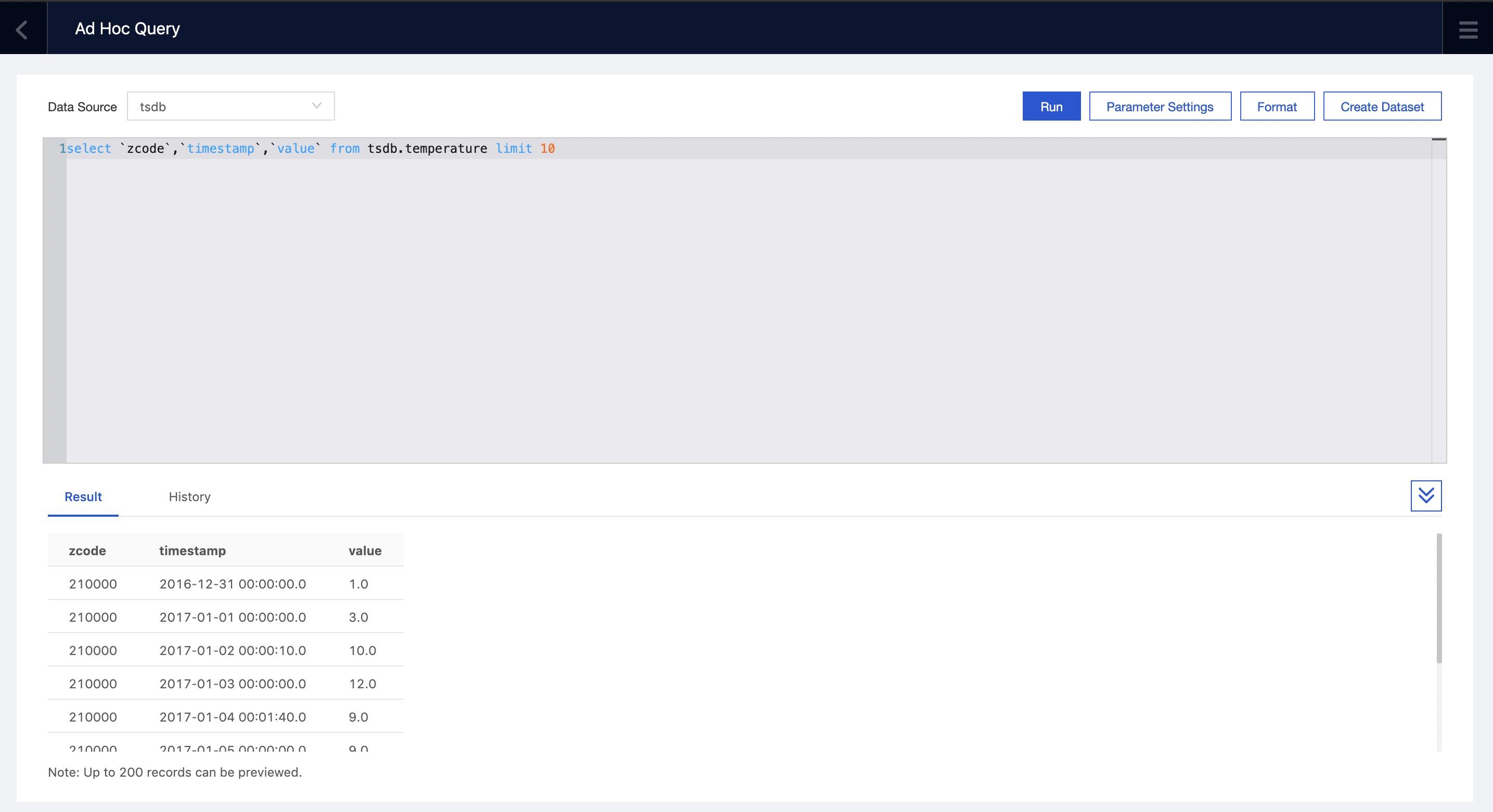 Create a dataset