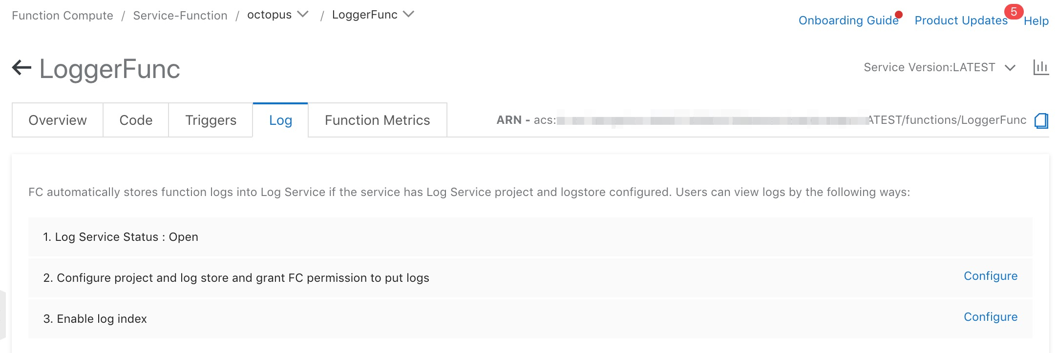 Enable log queries