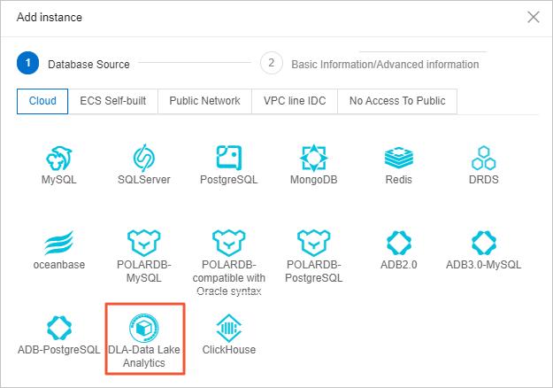 Register a DLA schema as an instance