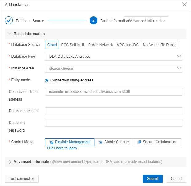 DLA instance details