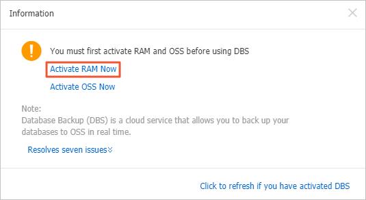 Activate RAM