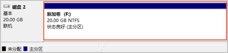 Windows 格式化数据盘 _ 在磁盘管理器中查看新加卷的状态