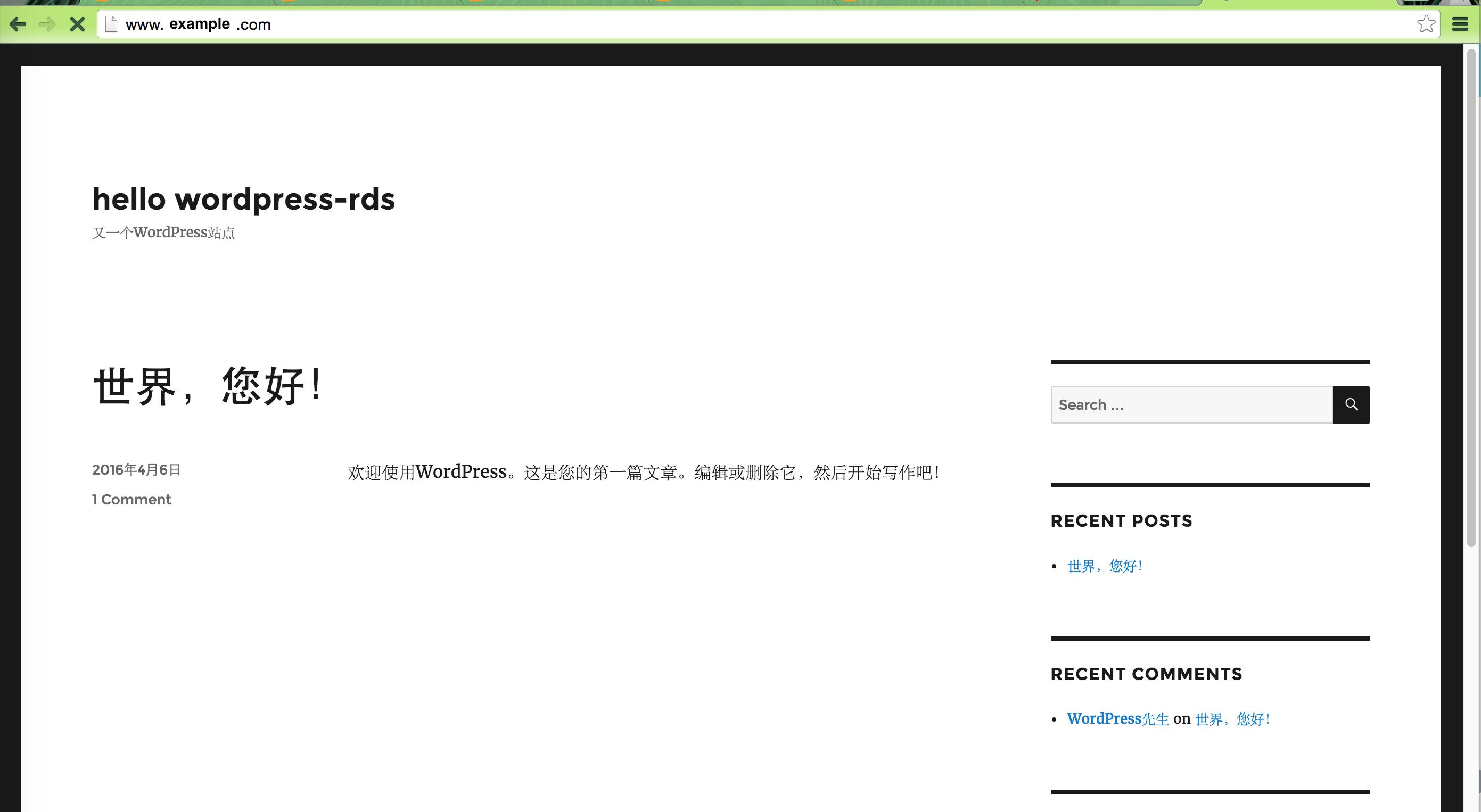 wordpress-rds-访问页面
