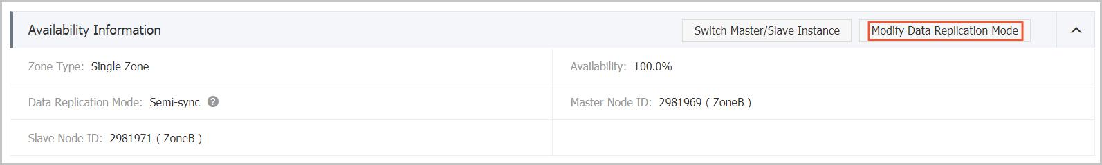 Modify data replication mode