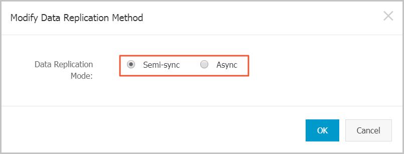 Select replication mode