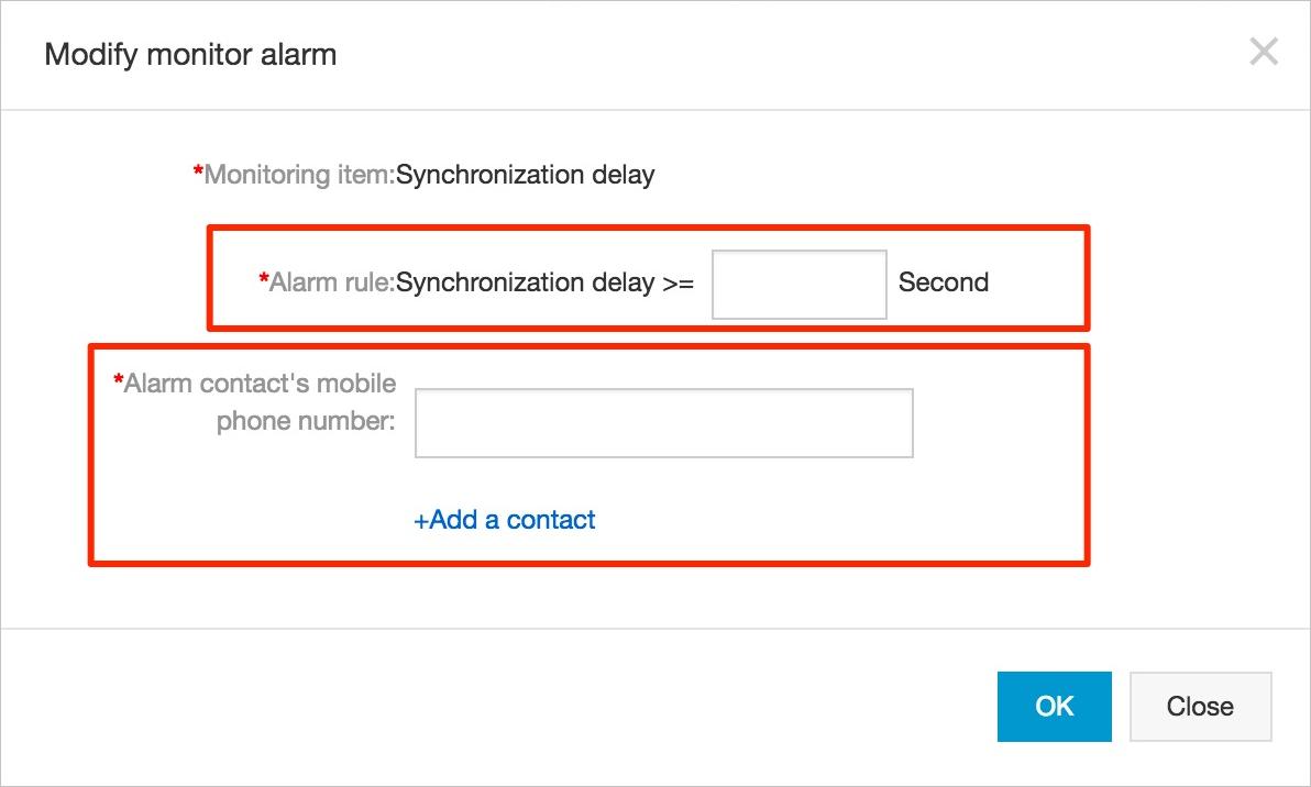 modify monitor alarm