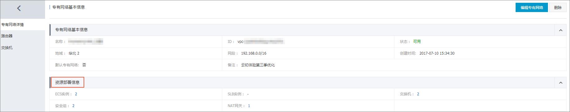 VPC资源部署