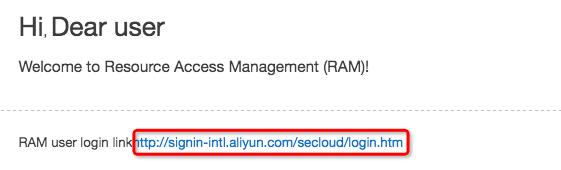 RAM User Logon URL