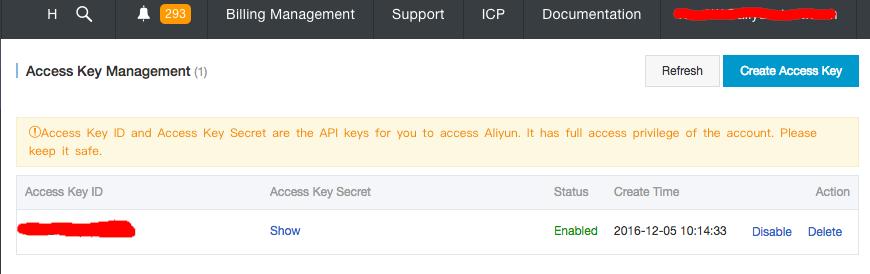 Get Access Key