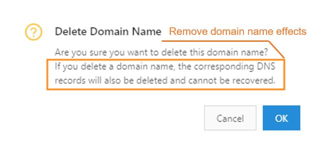 Delete a domain name-2
