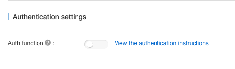 Authentication Configuration