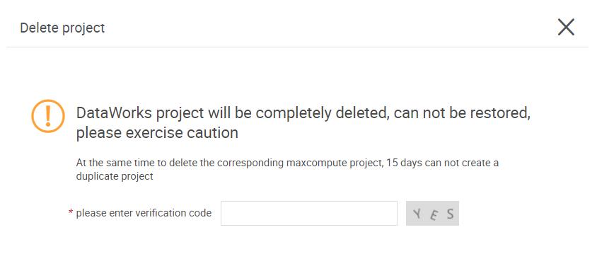 DeleteProject