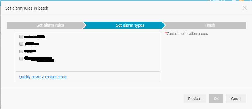set alarm types