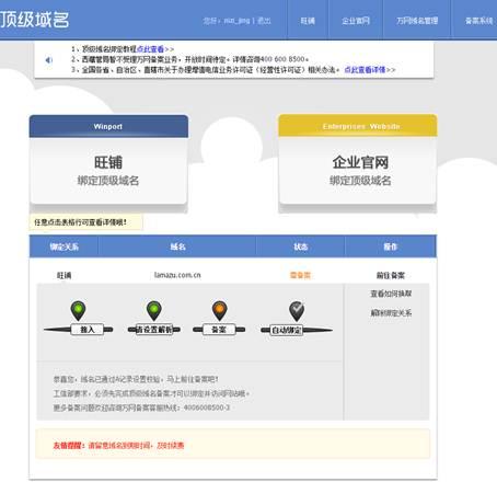 顶级域名页面