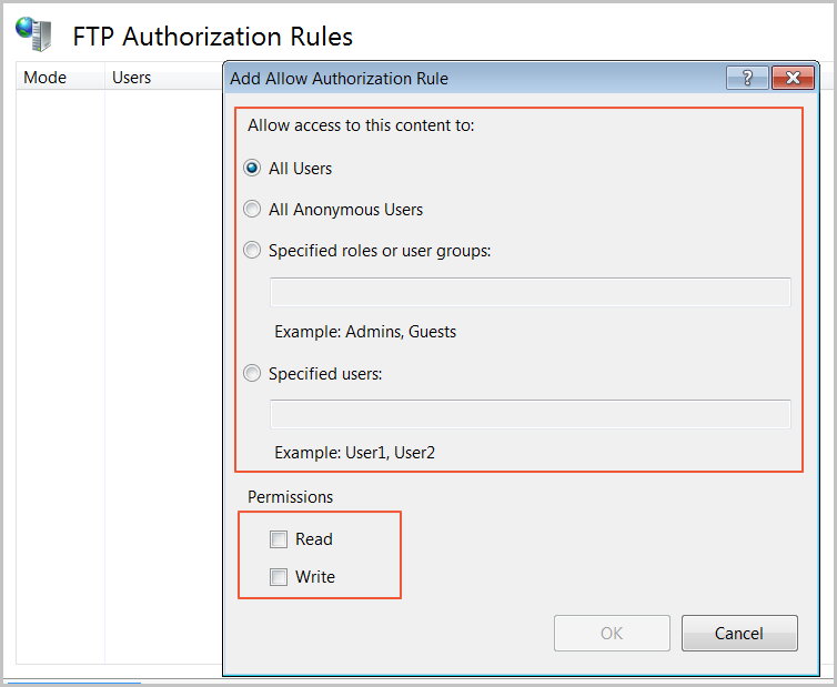 Add authorization rule