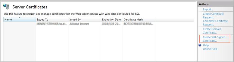 Create a server certificate