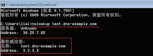 nslookup domain