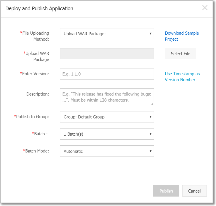 Deploy and Publish App