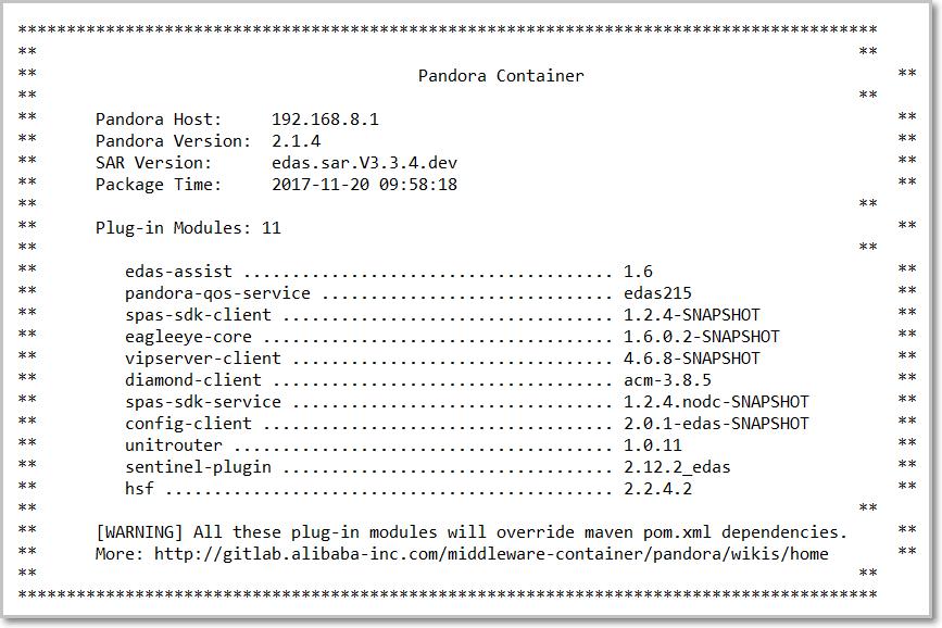 Output Pandora Container information