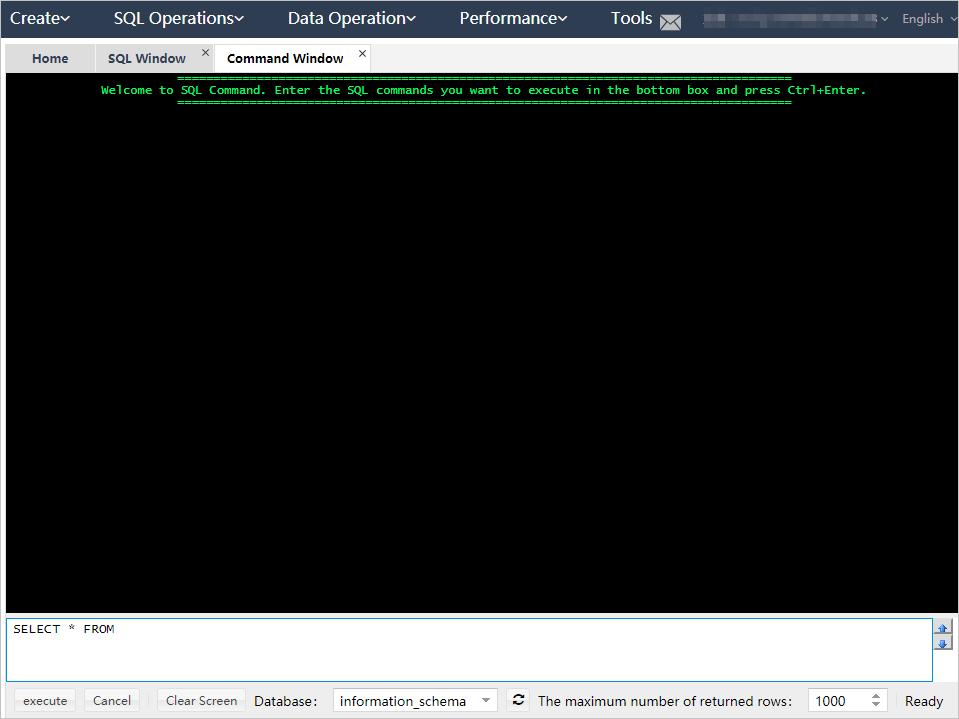 Open a blank command window