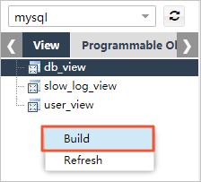 Select Build in the menu