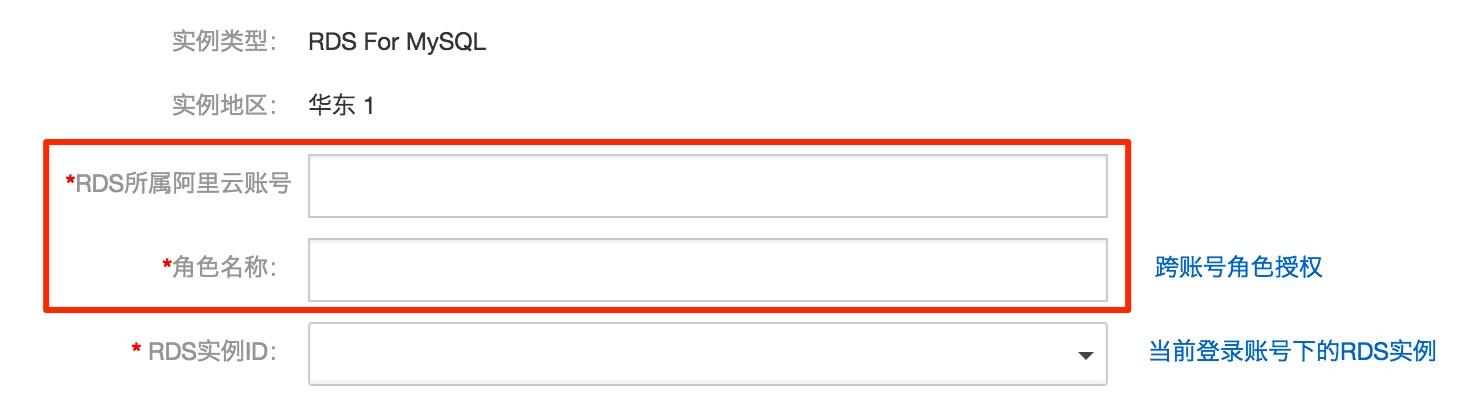跨账号配置信息