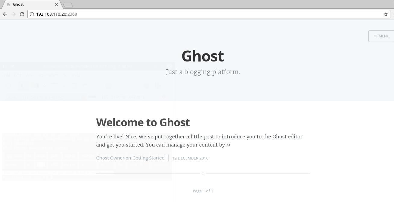 访问Ghost