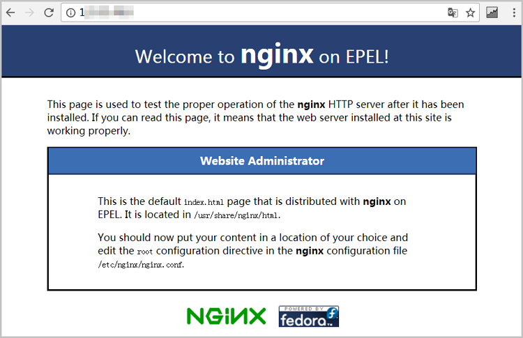 Nginx is installed successfully