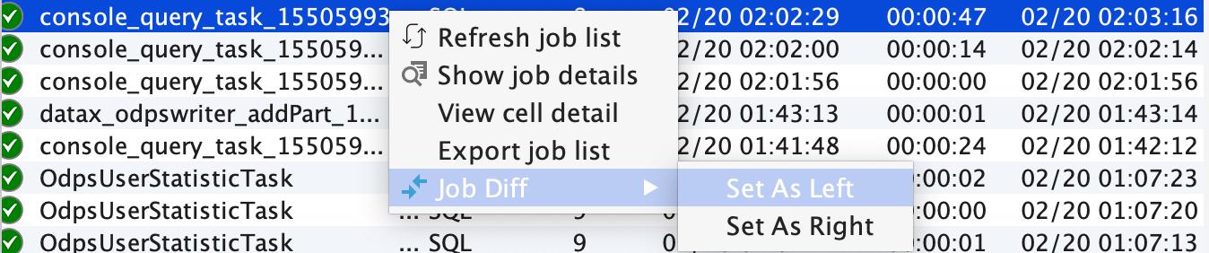 set left job