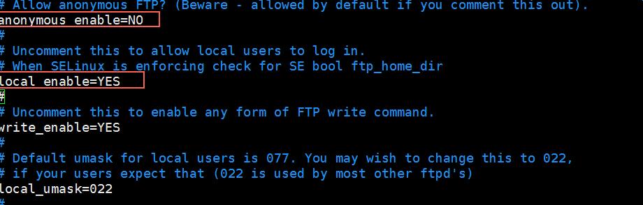修改/etc/vsftpd/vsftpd.conf