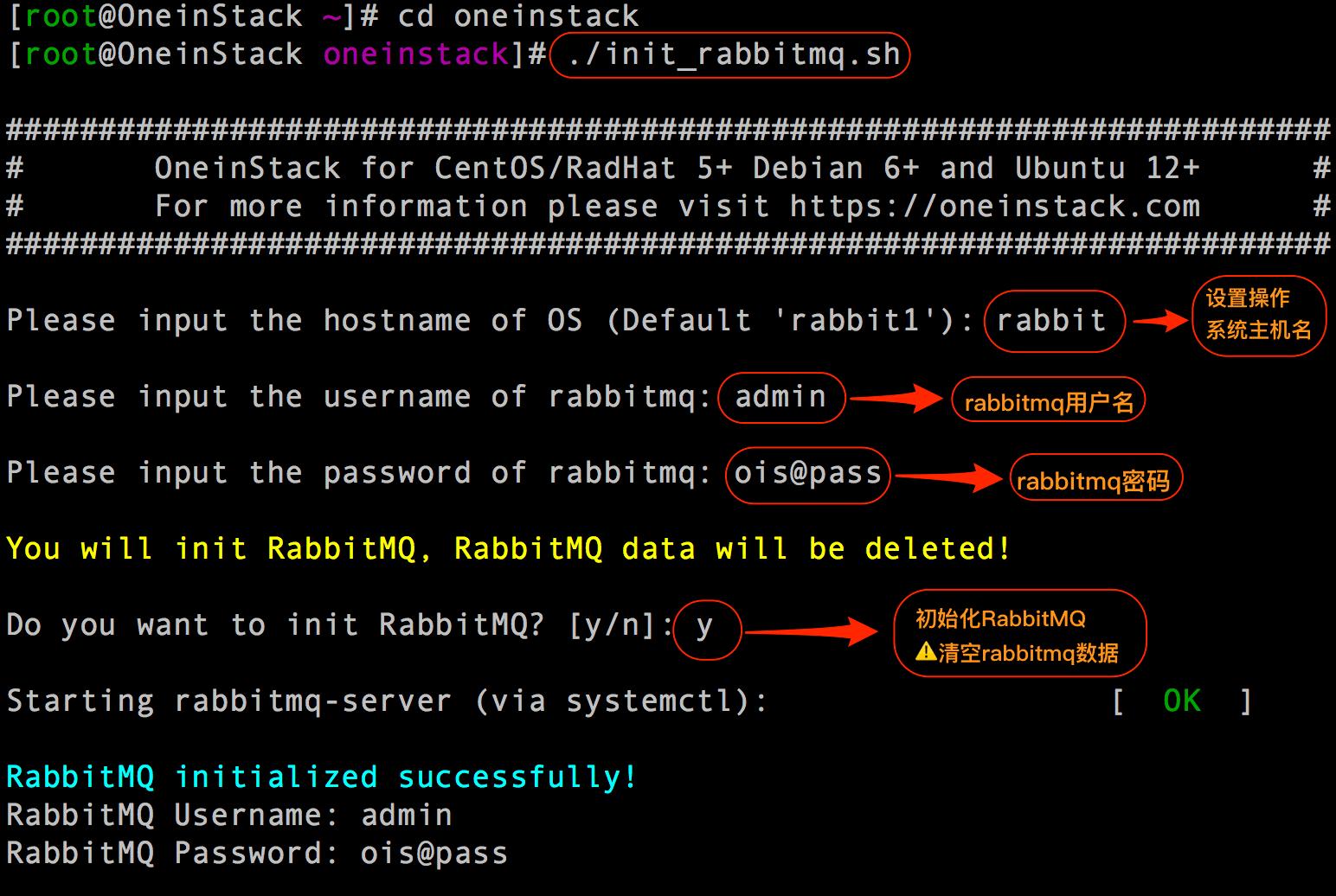 初始化 rabbitmq
