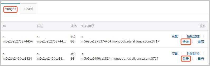 登录MongoDB