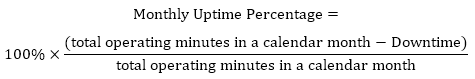 Monthly Uptime Percentage