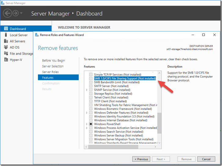 How To Enable Disable Smbv1 Smbv2 And Smbv3 In Windows