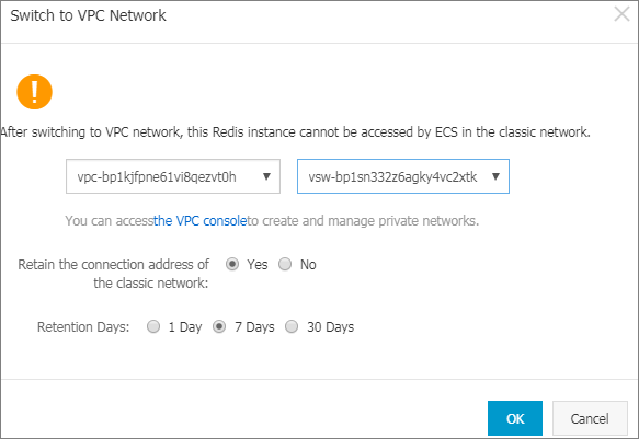 Switch to VPC