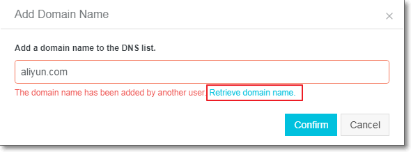 retrieve domain name