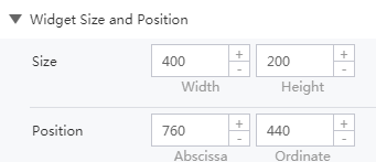 widget size and position