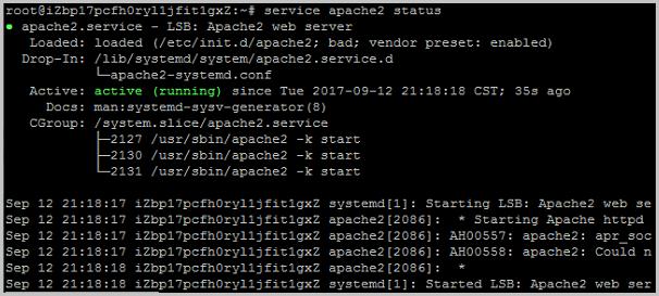 Ubuntu 16.04_Apache2 Web 服务器正常工作