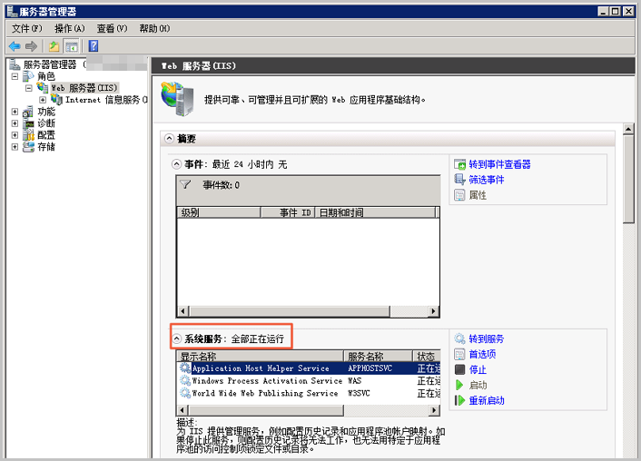 IIS has been installed on Windows Server 2008.