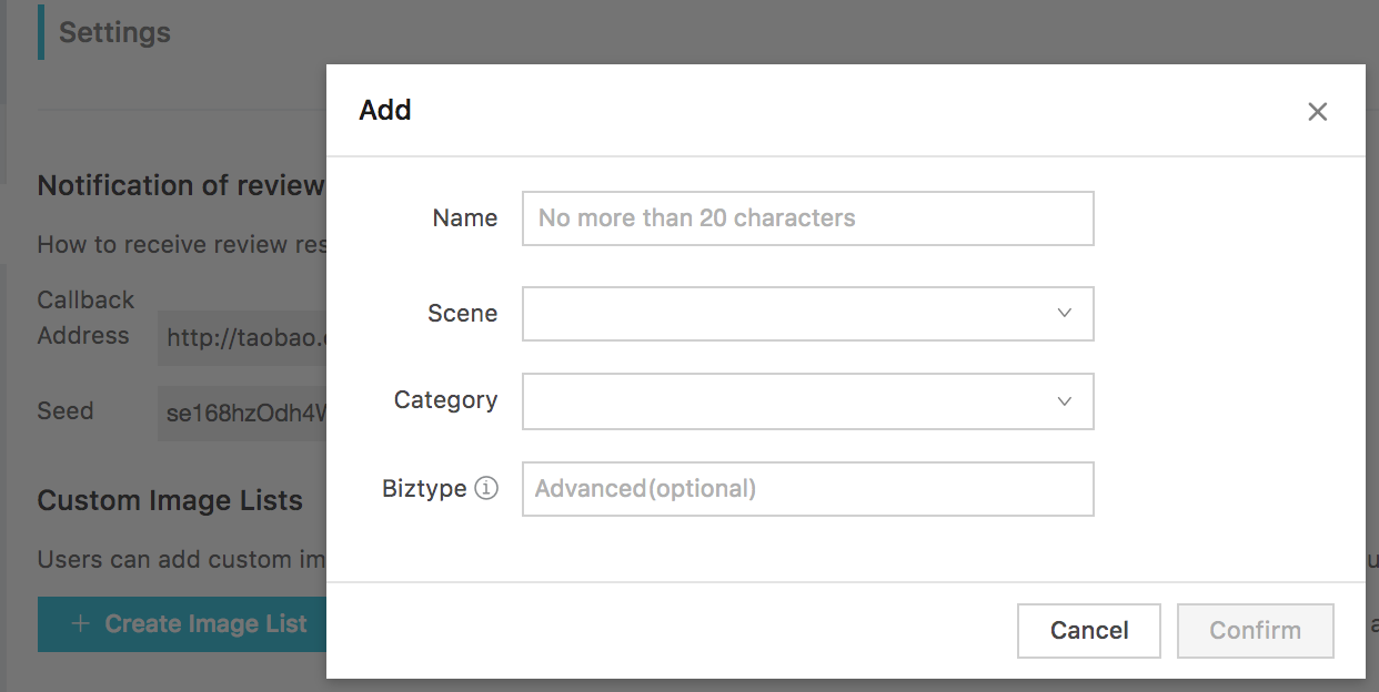 create image list