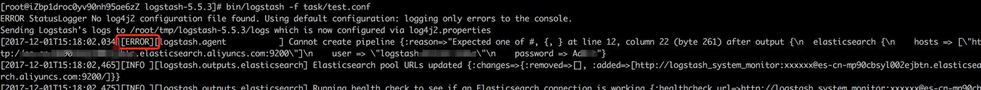 用户名密码没有添加引号