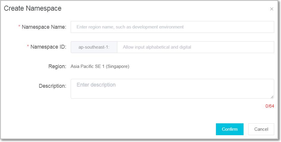 Create a namespace