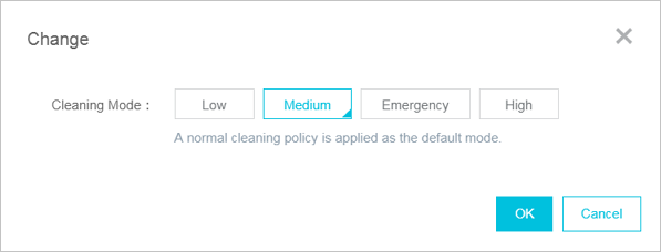 Select cleaning mode