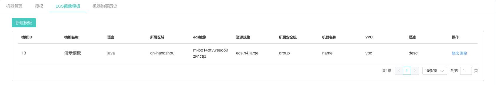 ECS镜像列表