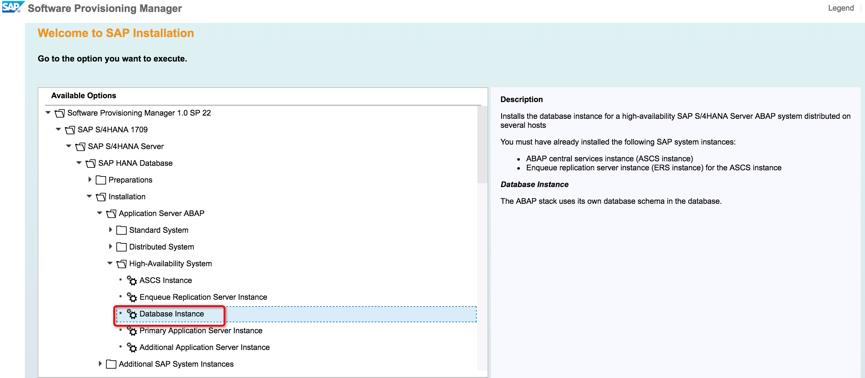 SAP S/4HANA 1709 high availability installation within